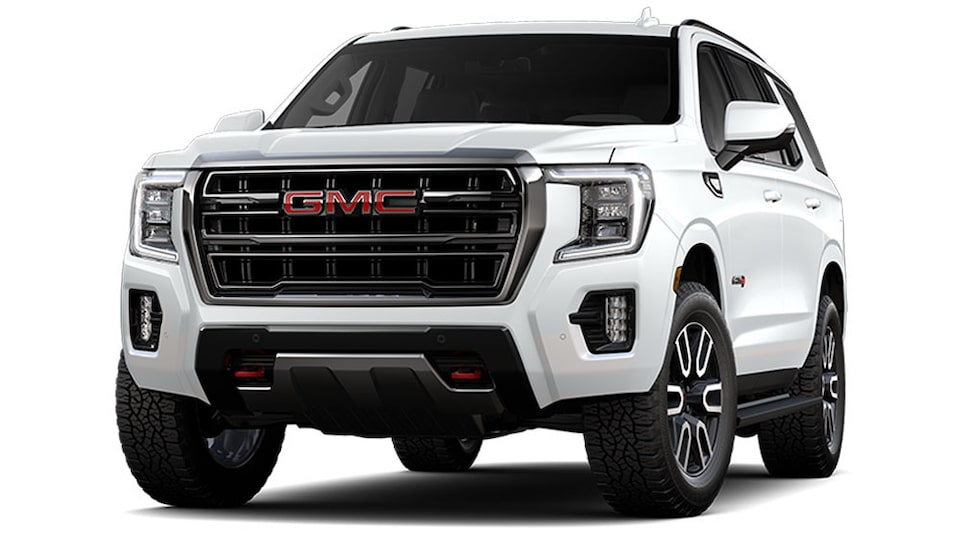 2021 GMC Yukon AT4 in Summit White.