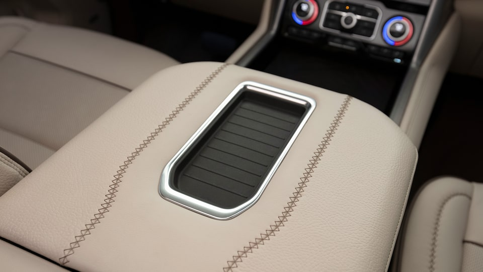 2021 GMC Yukon charging station.