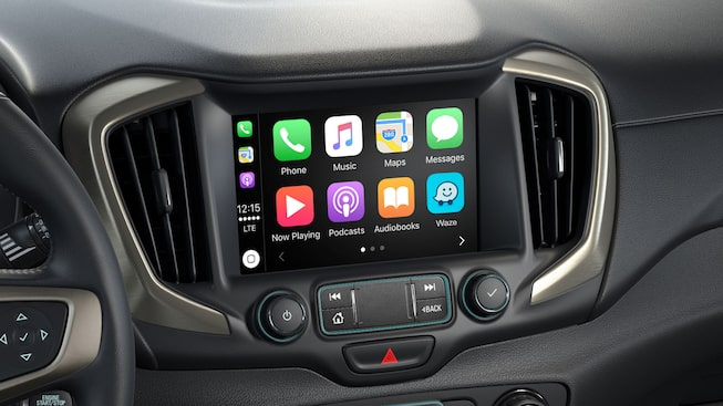 The 2019 Terrain Denali with available Apple CarPlay compatibility.