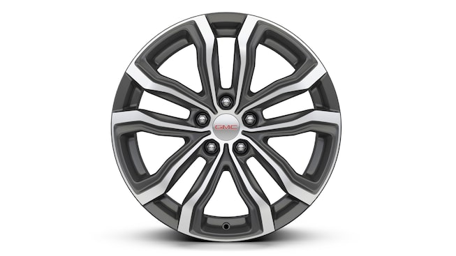 19 inch ultra-bright machined-aluminum wheels on the 2019 GMC Terrain Denali.