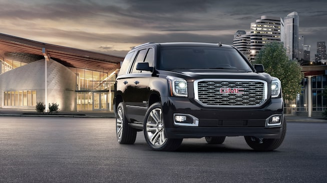 Image showing exterior features of the 2019 GMC Yukon Denali full-size luxury SUV.