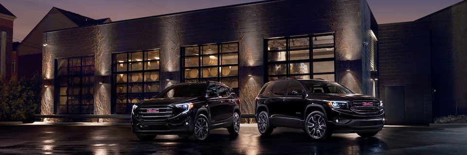 The 2019 GMC Terrain and Acadia Black Editions.