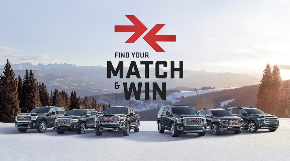 Are you meant for the three-row Acadia or the powerful Sierra 1500? Find out and enter for your chance to win a new GMC. ENTER NOW!