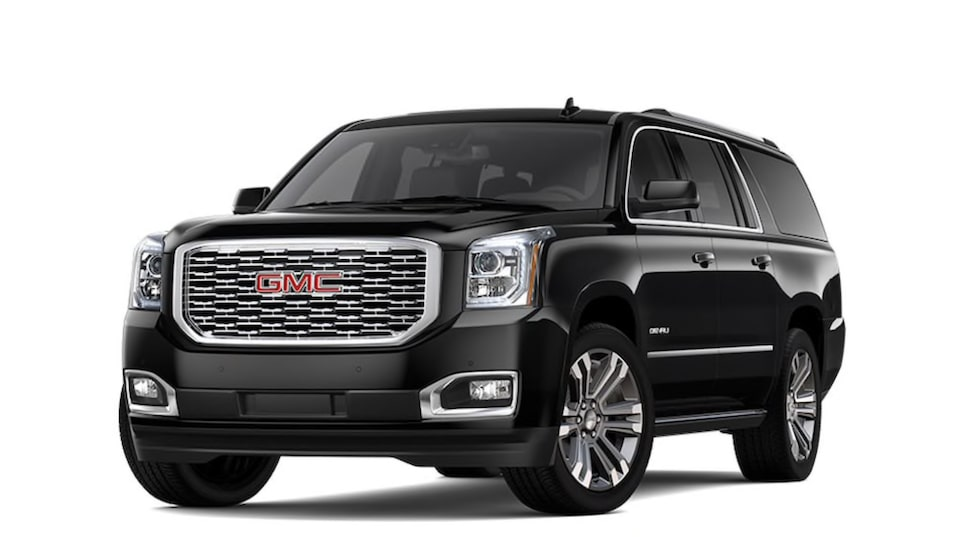 2020 GMC Yukon XL Denali in Onyx Black colour.