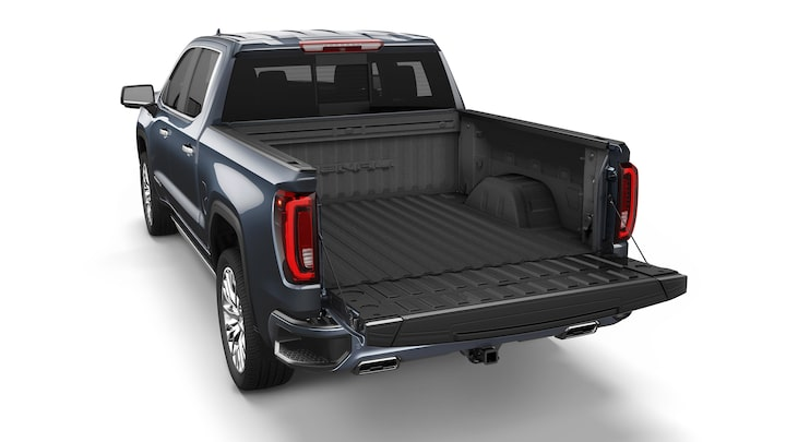 Opened MultiPro Tailgate of the 2019 Sierra 1500.