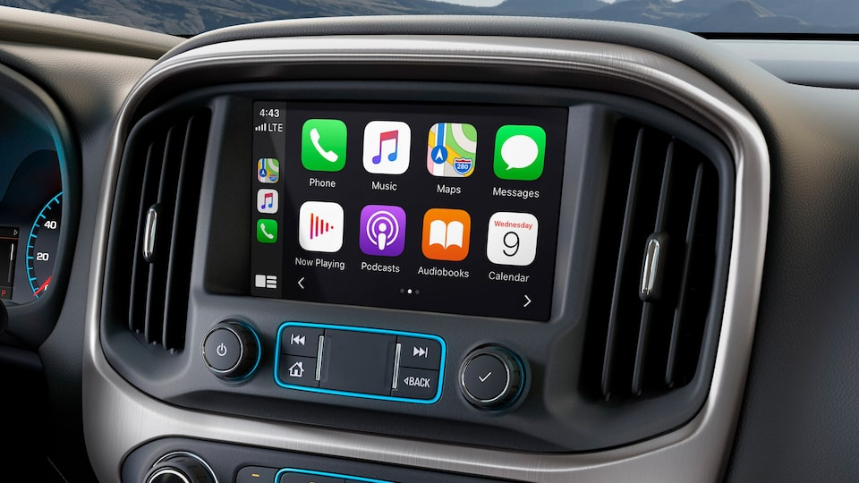 Apple CarPlay du pick up intermédiaire GMC Canyon 2020.