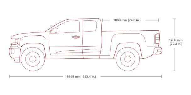 GMC Canyon All Terrain Extended Cab Mid-Size Truck Specs.
