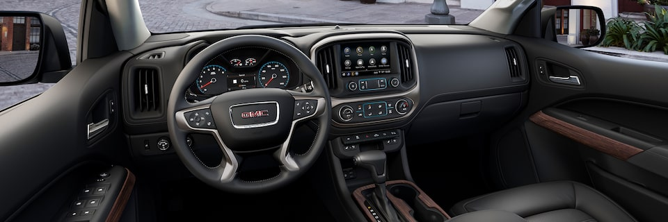 2020 GMC Canyon Denali Luxury Pickup Truck Interior.