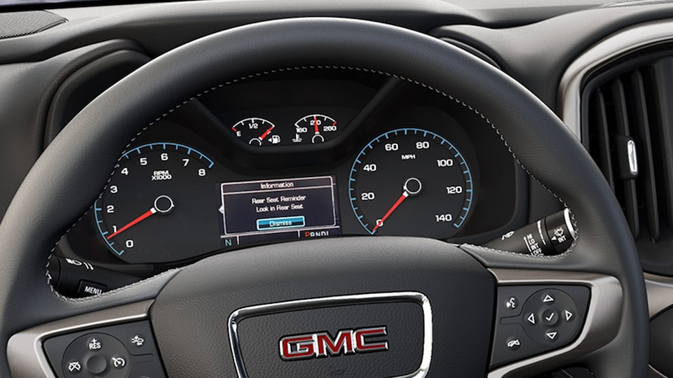 2020 GMC Canyon Denali Luxury Pickup Truck Seat Reminder.