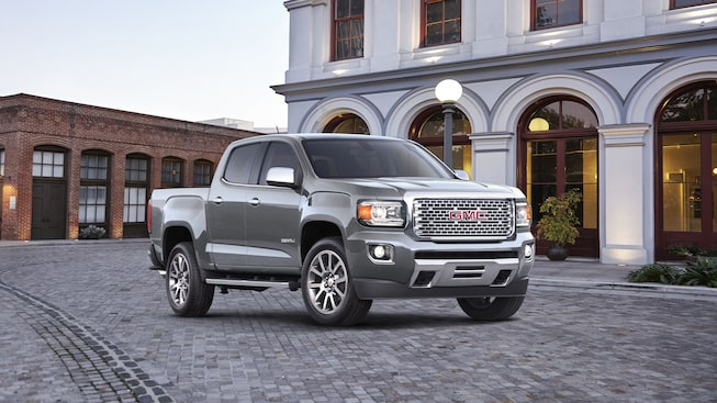 2020 Canyon Denali Luxury Mid-Size Pickup Truck Exterior Front Shot For Gallery.