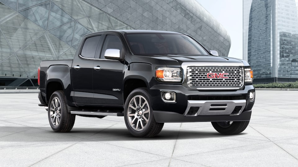 2020 Canyon Luxury Pickup Truck Front Angle Building.