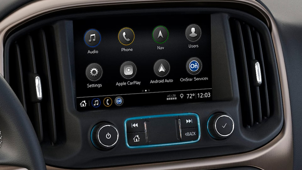 2020 Canyon Luxury Pickup Truck Infotainment System.