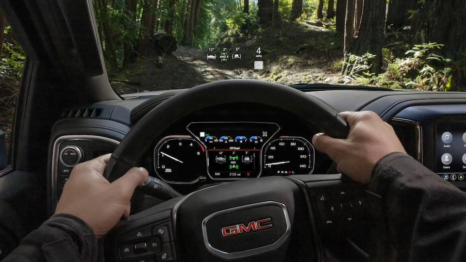 2020 GMC Sierra HD AT4 HUD.