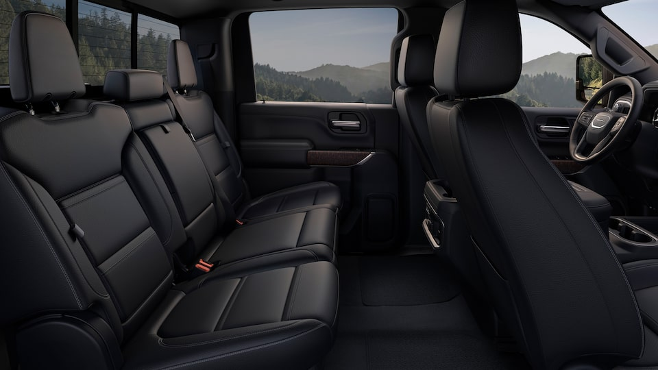 2020 Sierra HD Denali Rear Seat.