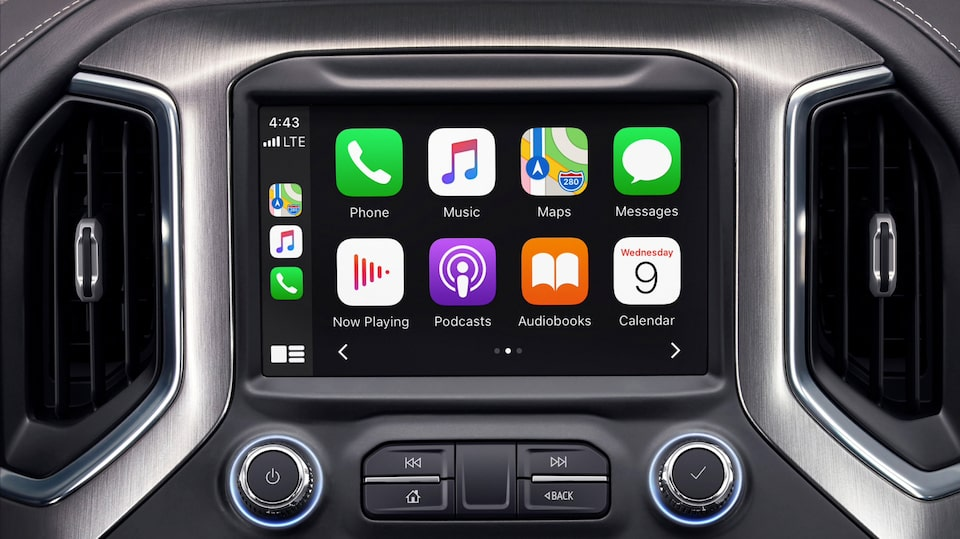 2020 GMC Sierra HD Apple CarPlay.