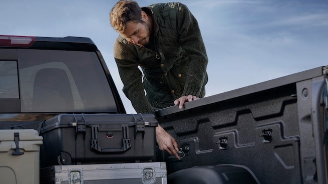 Heady Duty Cargo Bed Of The GMC Sierra Denali HD.
