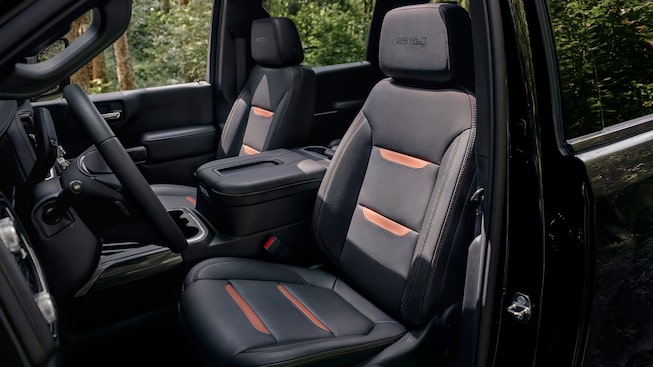 2020 Sierra HD AT4 Interior Crew Cab Front Head And Legroom.