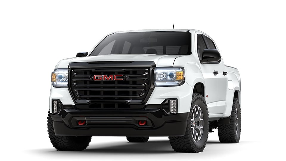 GMC Canyon AT4 2021 en Blanc Sommet.