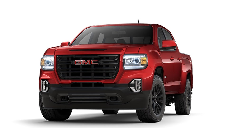 2021 GMC Canyon Elevation in Cayenne Red Tintcoat.