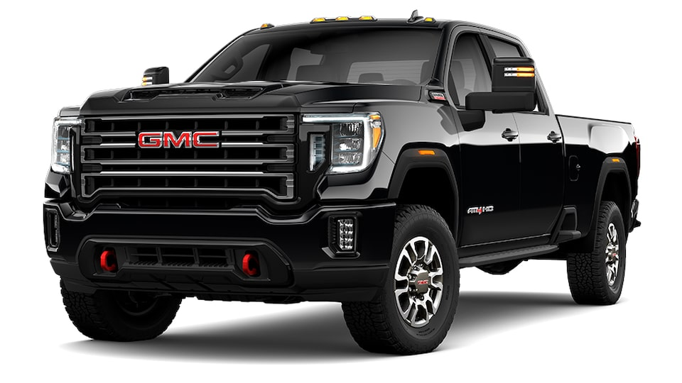 2021 GMC Sierra 2500 AT4 HD in Onyx Black.