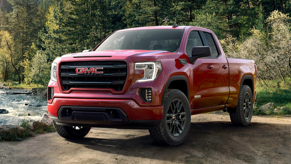 Red 2019 GMC Sierra Elevation Off-Road.