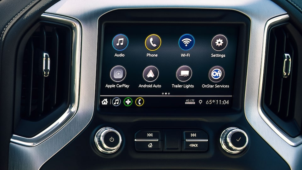 GMC Sierra Elevation Infotainment System and Dashboard.