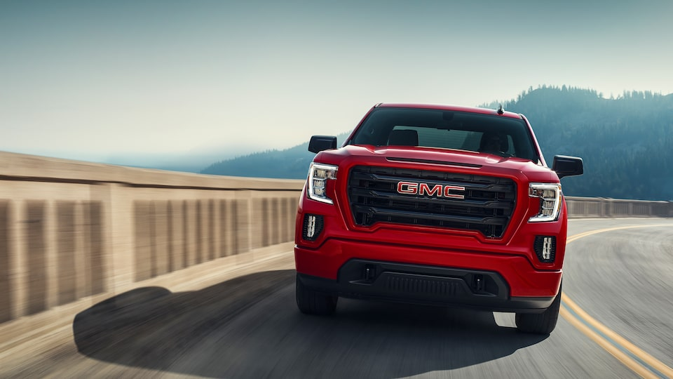 Red 2019 GMC Sierra Elevation.