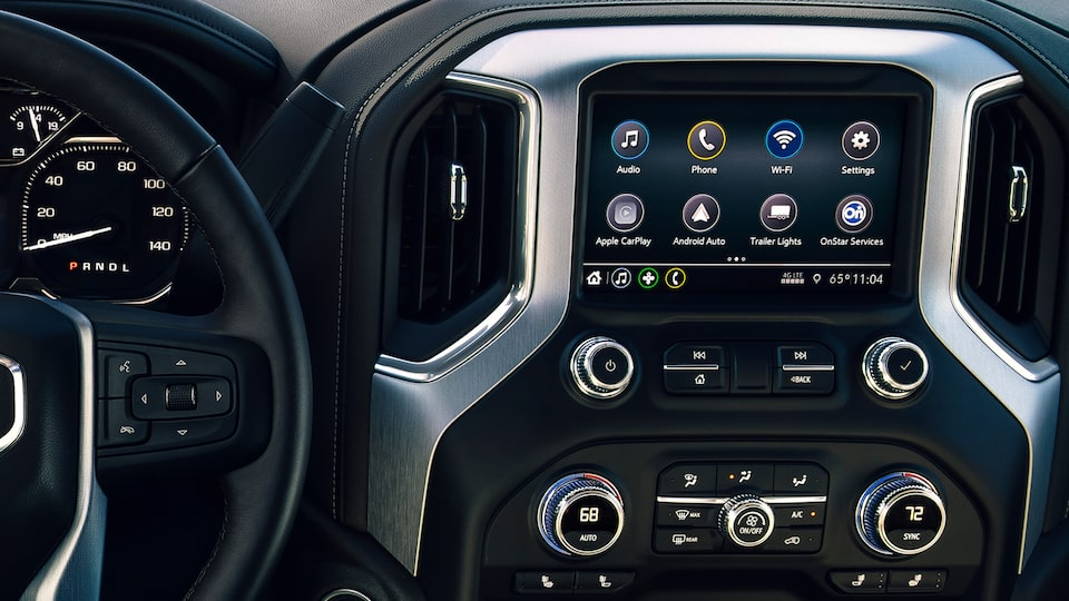 GMC Sierra Elevation Infotainment System.
