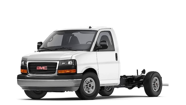 2020 GMC Savana Cutaway Van In Summit White.
