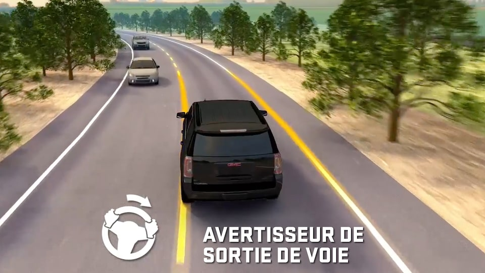 GMC Terrain's available Lane Keep Assist with Lane Departure Warning feature.
