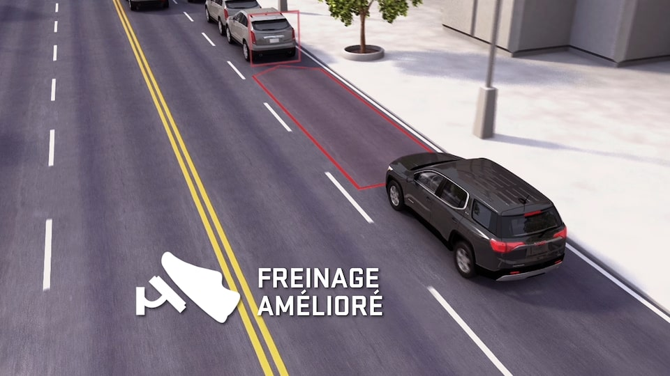 Terrain Denali's available Low Speed Forward Automatic Braking feature.