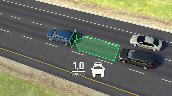 2019 GMC vehicle safety: with available Following Distance Indicator.