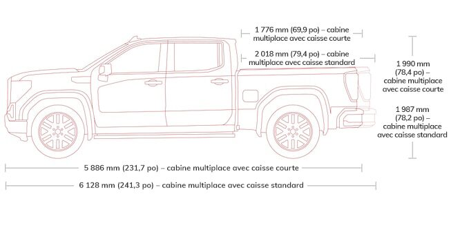 2018 Sierra 1500 light-duty pickup truck crew cab specs.