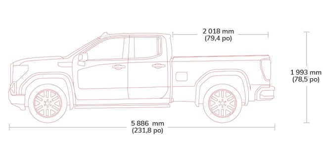 2018 Sierra 1500 light-duty pickup truck double cab specs.